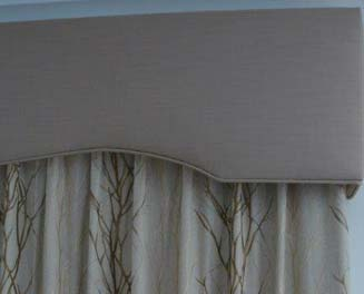 Curtain pelmets