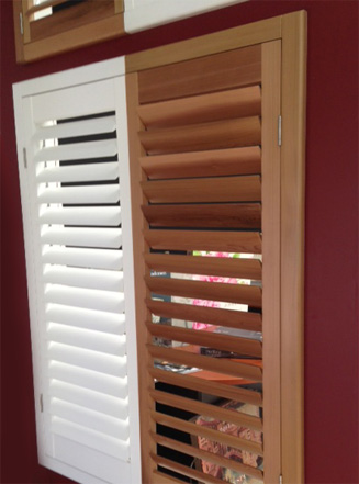 Natural Wood Colonial Internal Shutters
